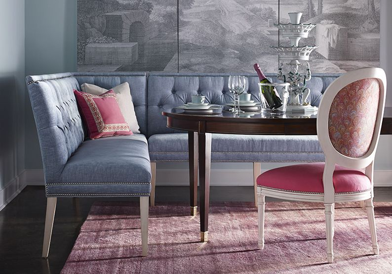 Take A Non Traditional Approach To The Formal Dining Room With Luxurious Tufted