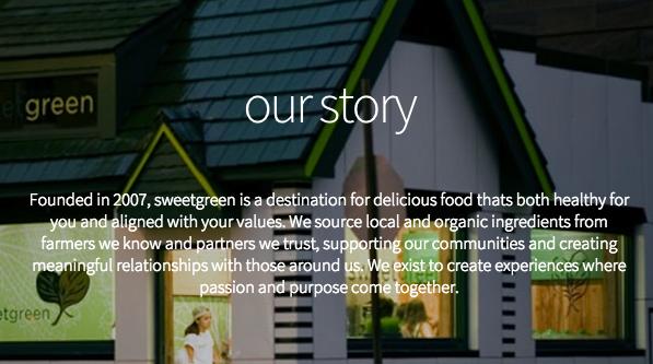 Sweetgreen Mission Statement 1g Brand Strategies Pinterest