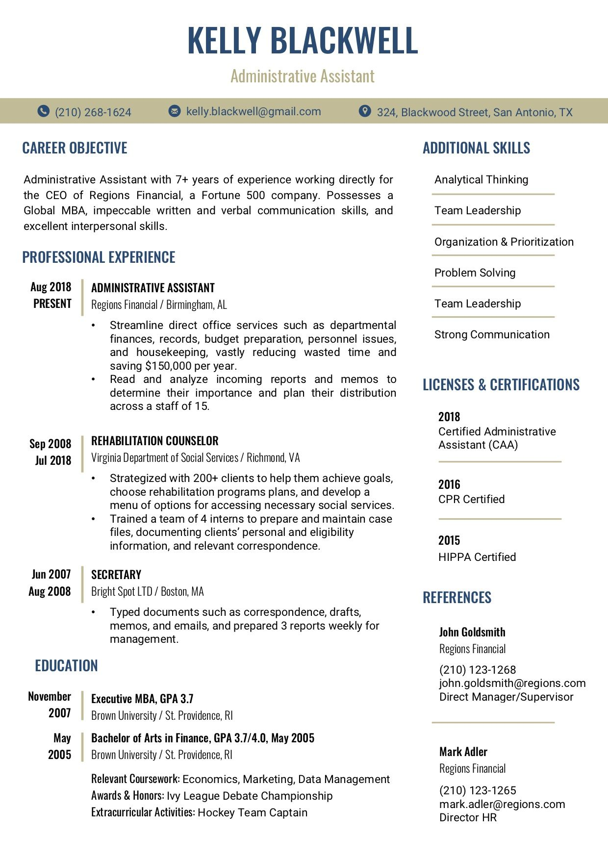 Resume Template 2B RC Resume template word, Resume
