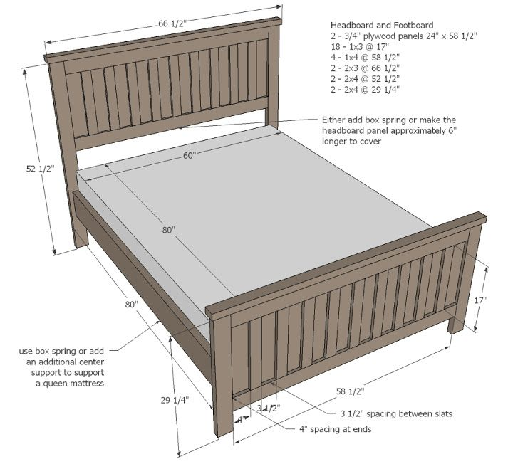 Best Kentwood Bed Bed Frame Plans Tall Bed Frame Bed Plans 640 x 480