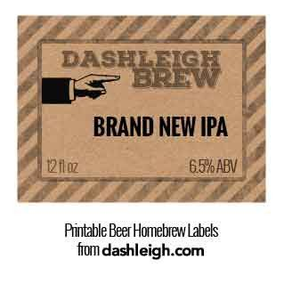Free Template Download For Modernly Vintage Beer Labels From Dashleigh