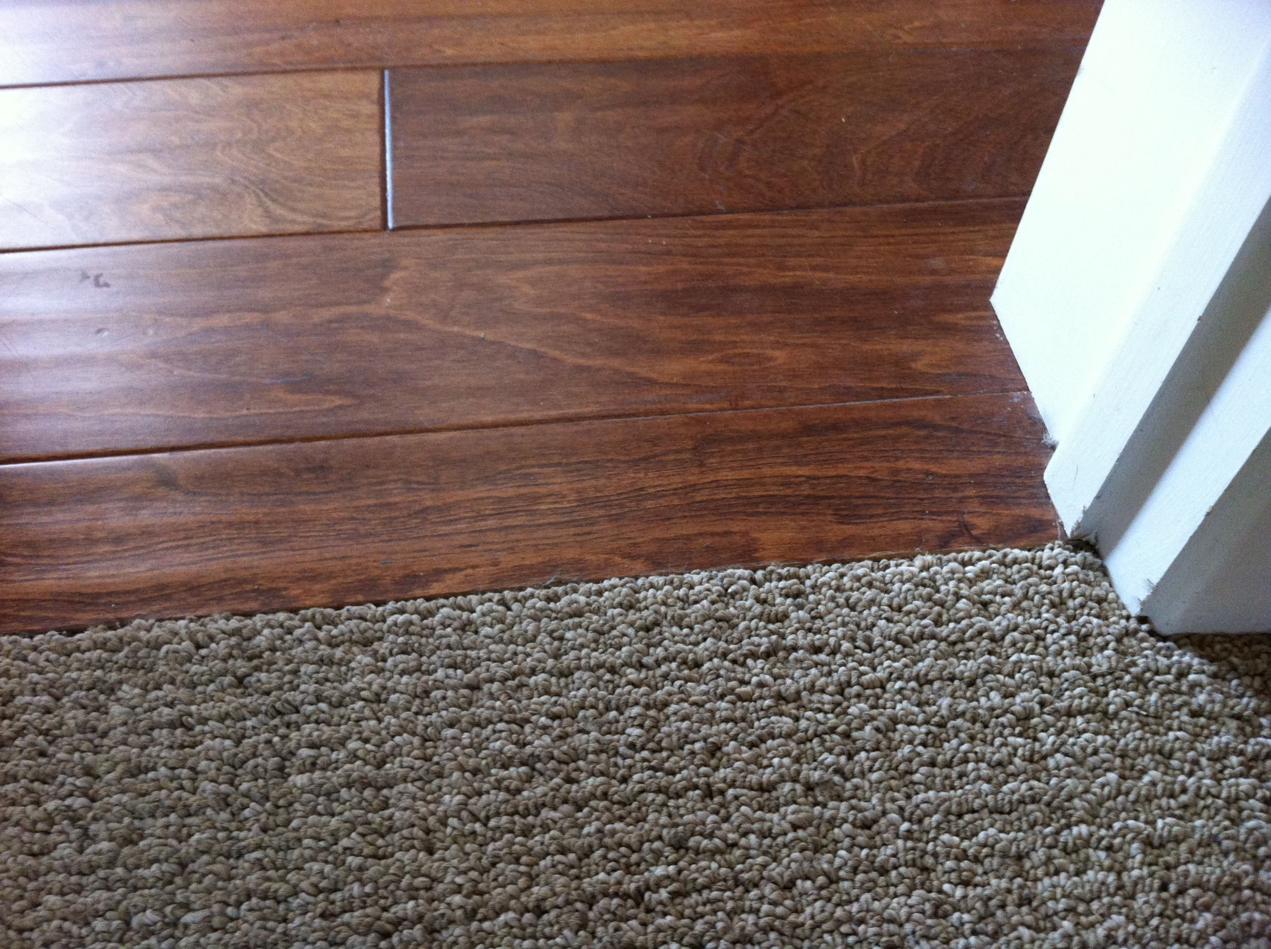 Laminate Flooring To Carpet Transition On Concrete Flooring