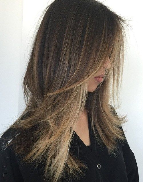 Long Choppy Haircut For Straight Thin Hair Add Some Balayage Highlights To The Ends Thin Straight Hair Long Thin Hair Haircuts For Long Hair