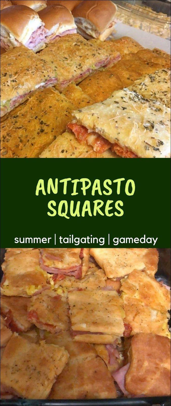 Antipasto Squares