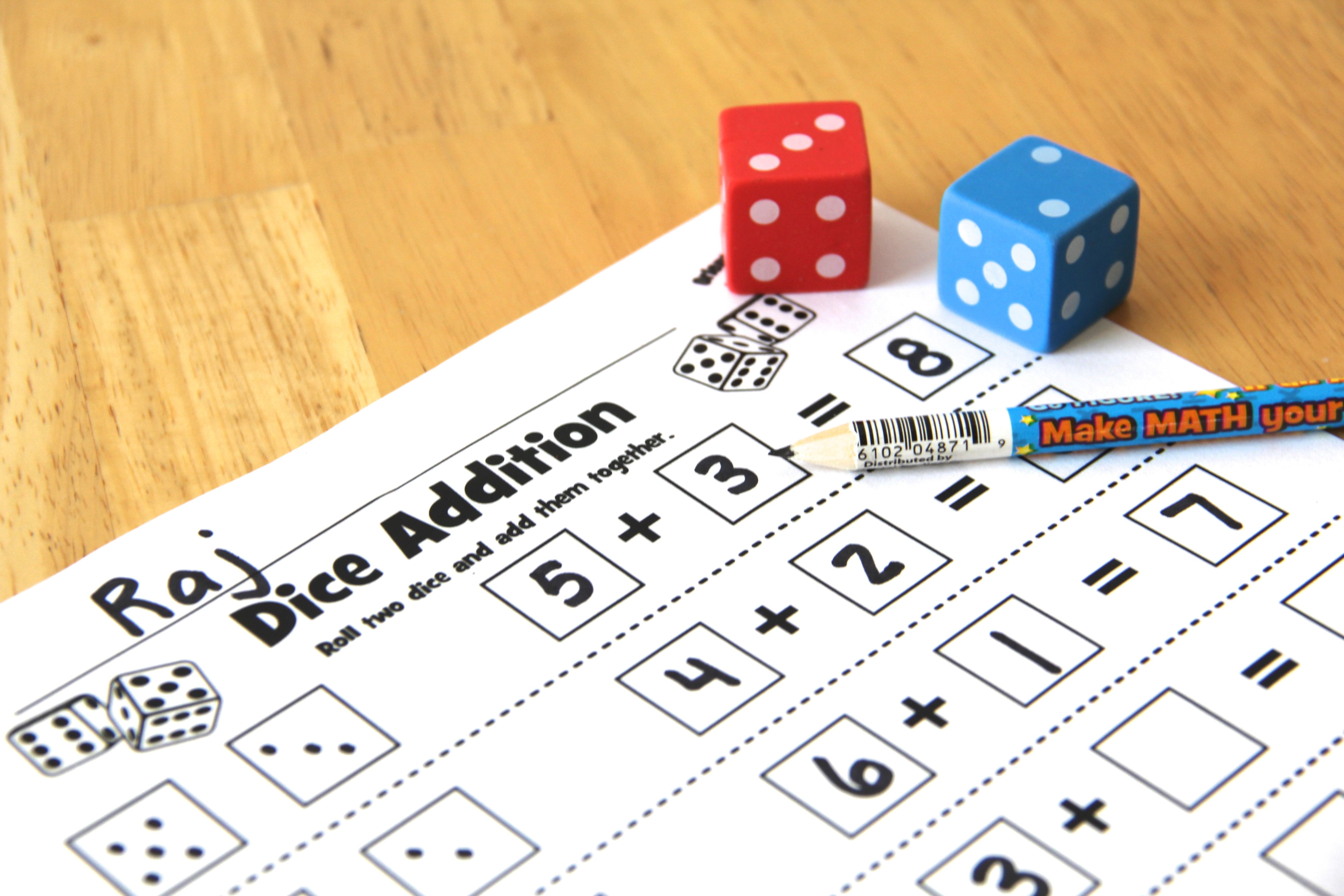 Quick And Easy Dice Center Activities