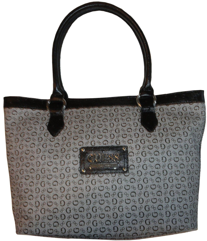 Women s Guess Purse Handbag Tote Proposal Black  Amazon.com  Shoes ... eba84d2947435