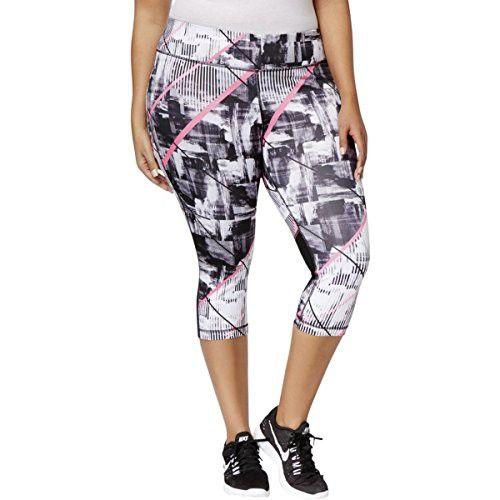 ab7f5e31083 Ideology Womens Plus Stretch Printed Crop Leggings Black 2 ...