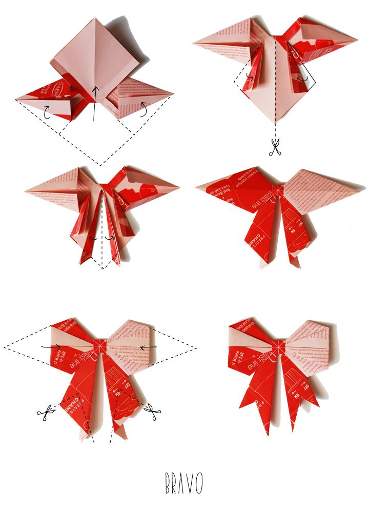 petits noeuds en origami origami pinterest origami. Black Bedroom Furniture Sets. Home Design Ideas