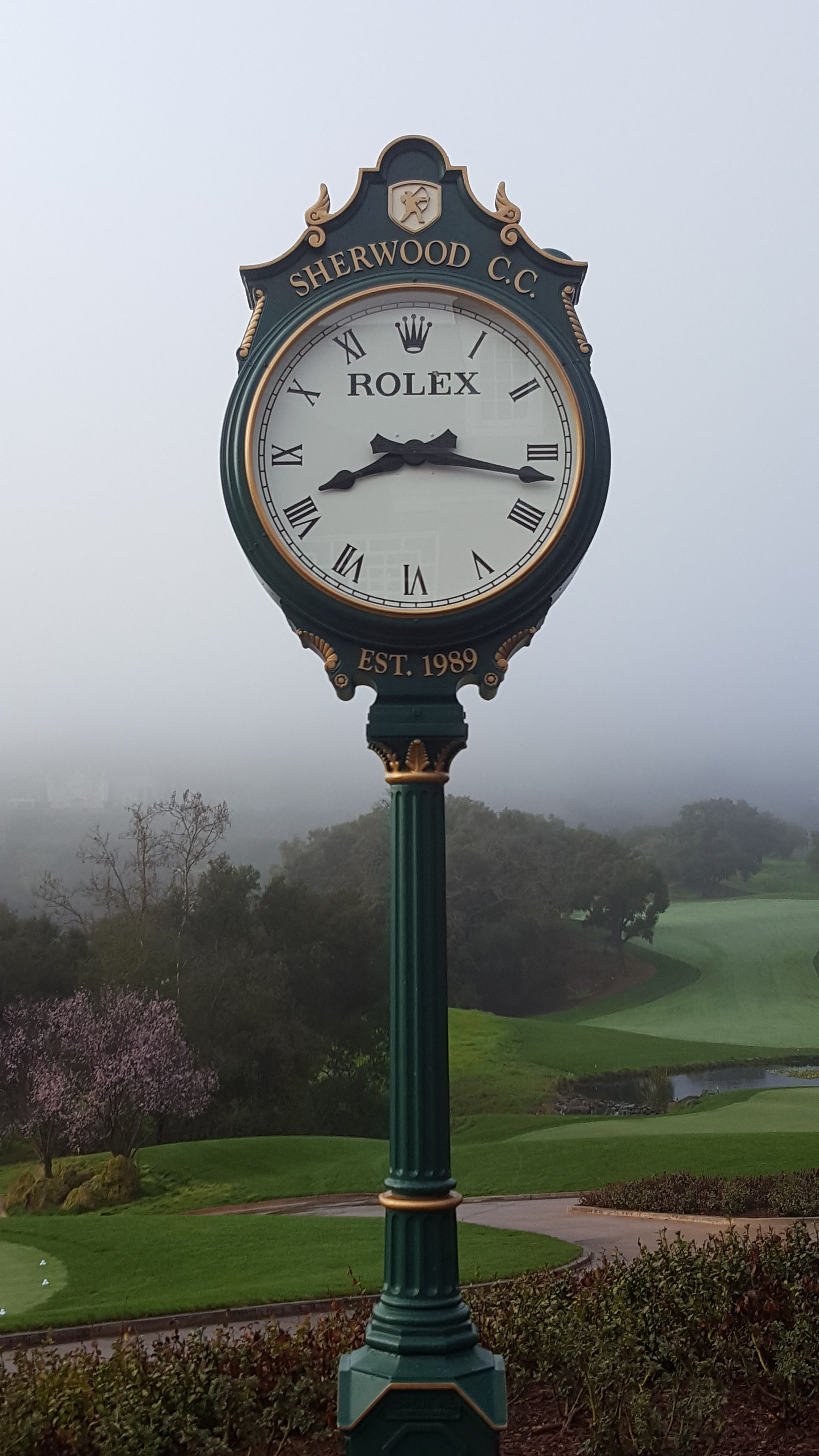 I need a golf clock in my backyard. For some reason I take a