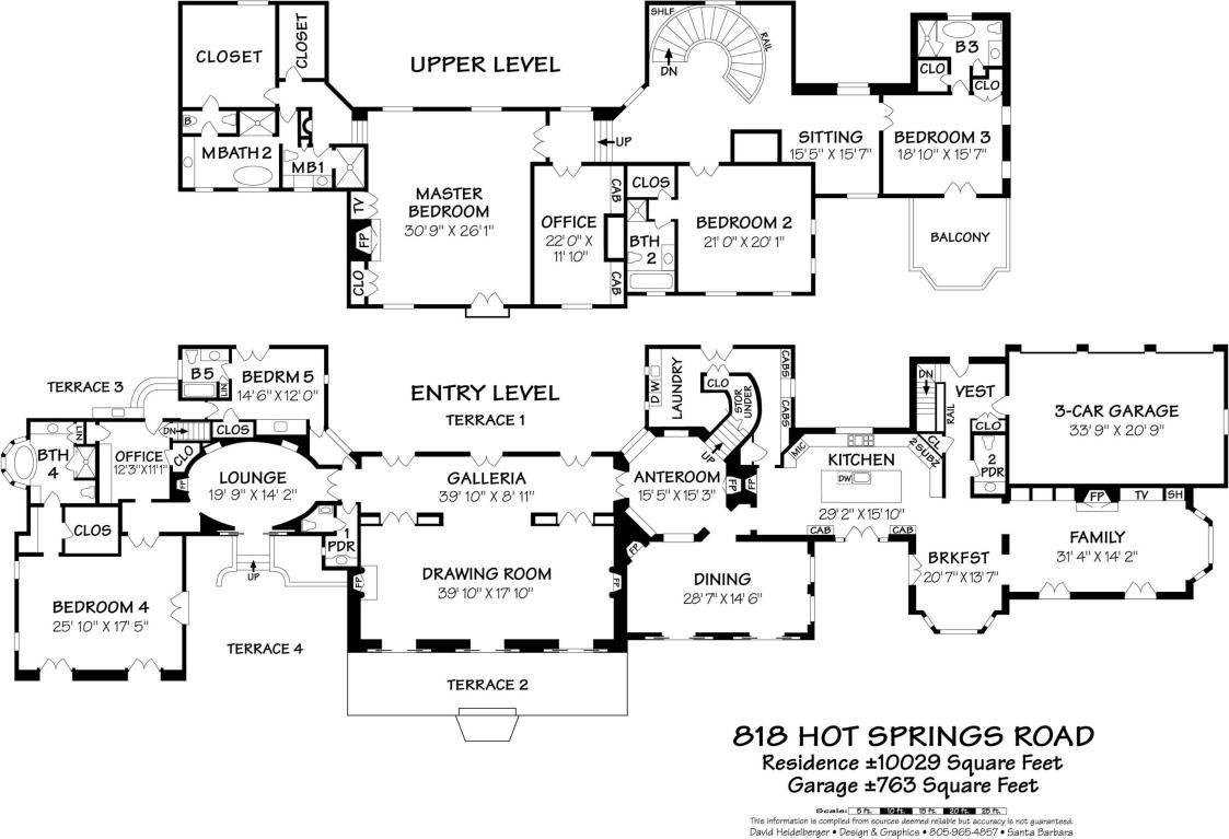 818 Hot Springs Rd Montecito Ca Mansion Floor Plan Floor Plans Dream House Plans