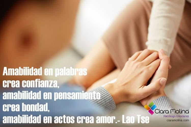 AMABILIDAD... (((Sesiones y Cursos Online www.ciaramolina.com #psicologia #emociones #salud)))