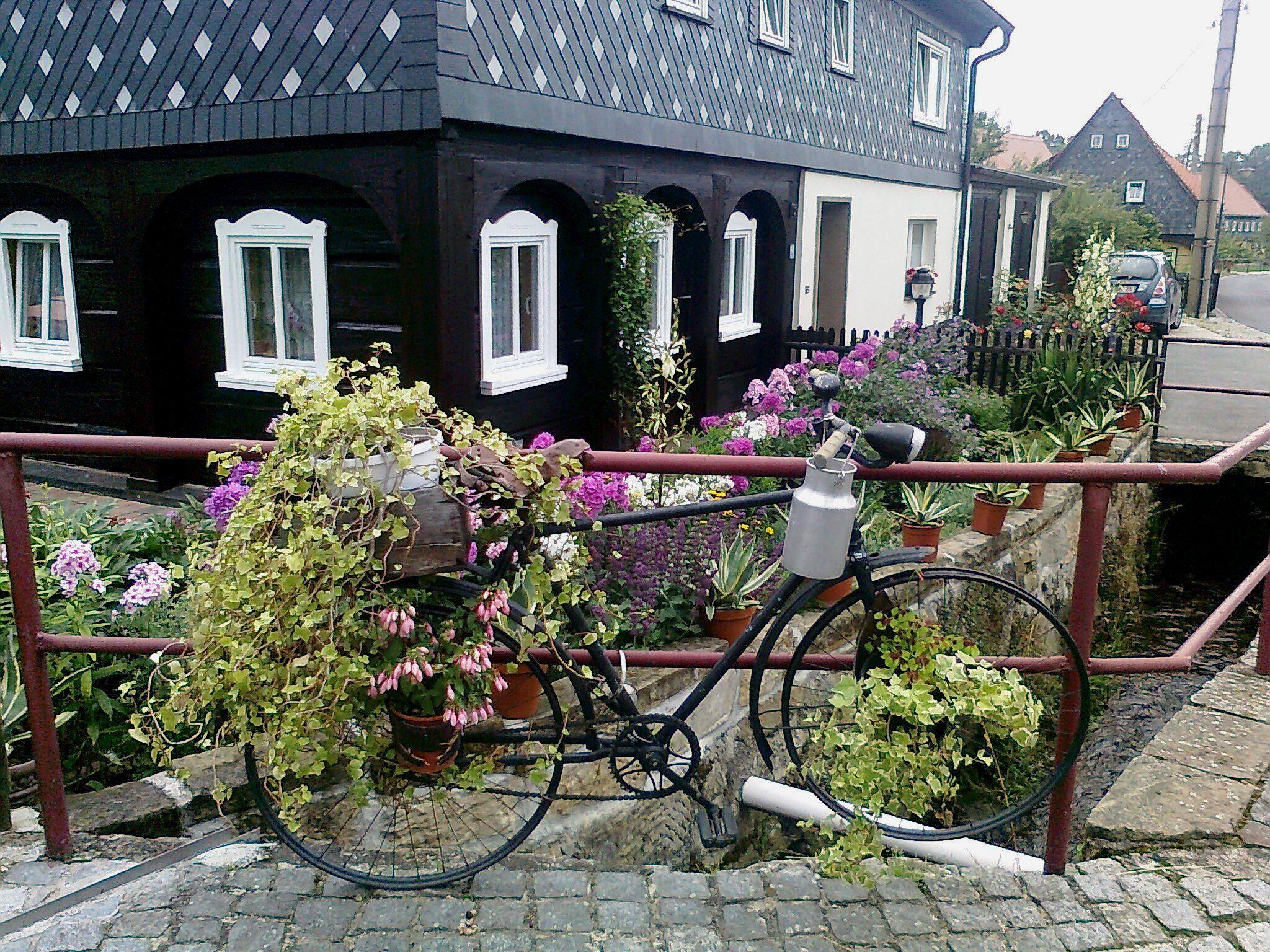 Květinový bicykl