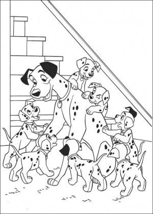 101 Dalmatians coloring page 17 Cartoon coloring pages