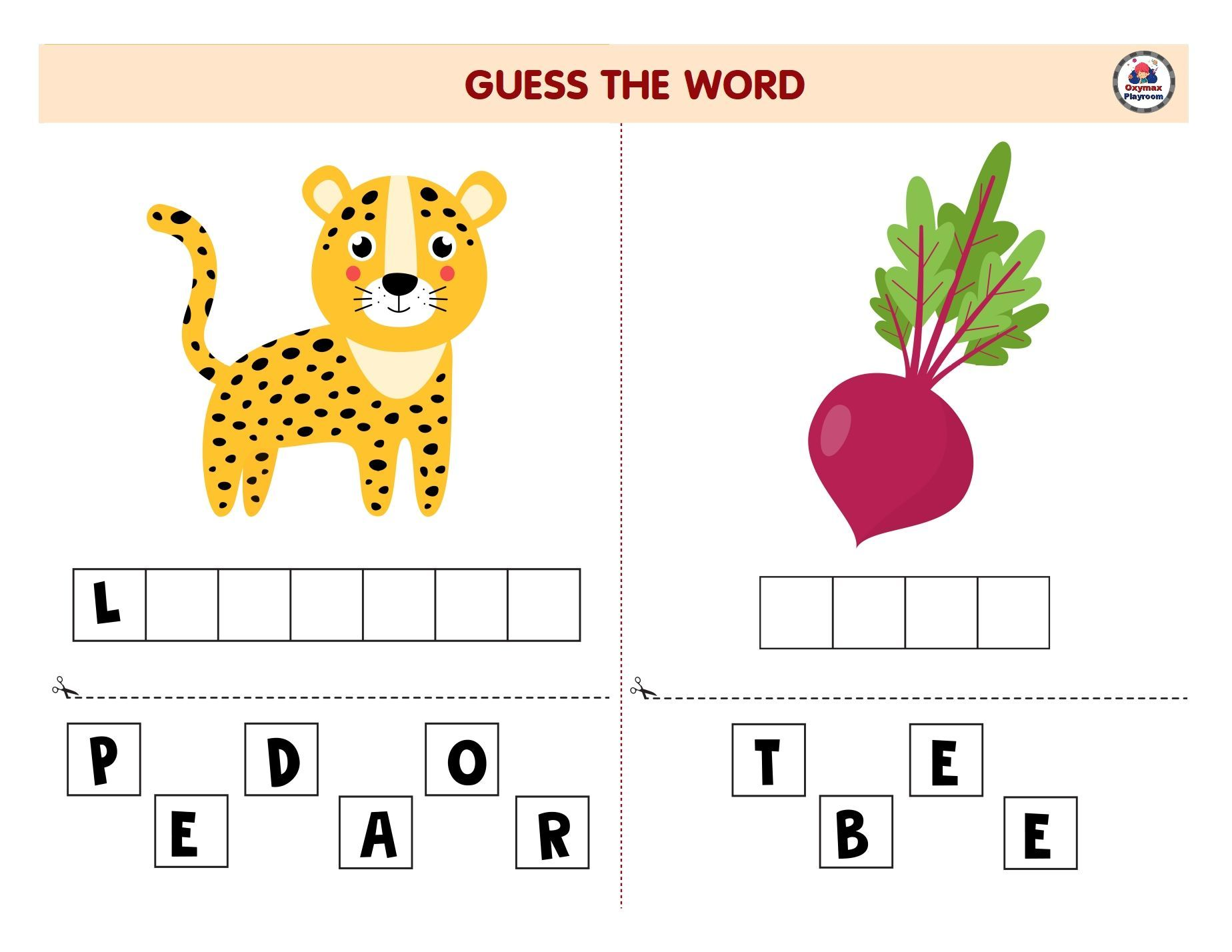 Guess The Word Game For Kids Word Games For Kids Guess The Word Game Word Games