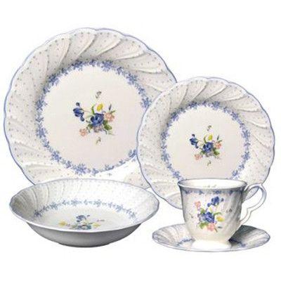 Dinnerware Sets  sc 1 st  Pinterest & Nikko Ceramics Blue Peony Dinnerware Set   Wayfair   Dishes \u0026 Table ...
