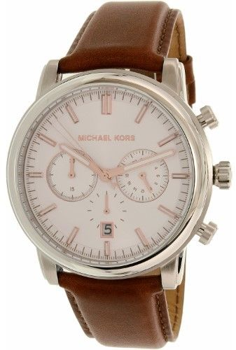 Michael Kors Men's MK8372 Landaulet Leather Watch, 43mm