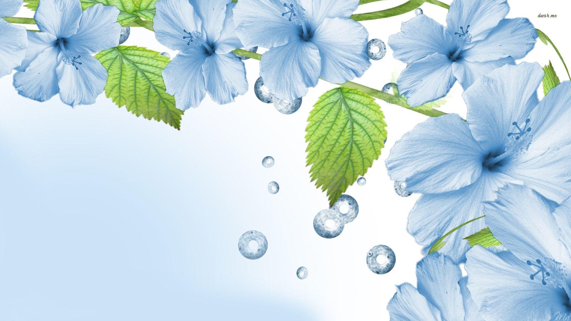 Blue Flowers Wallpaper HD Wallpapers Pinterest