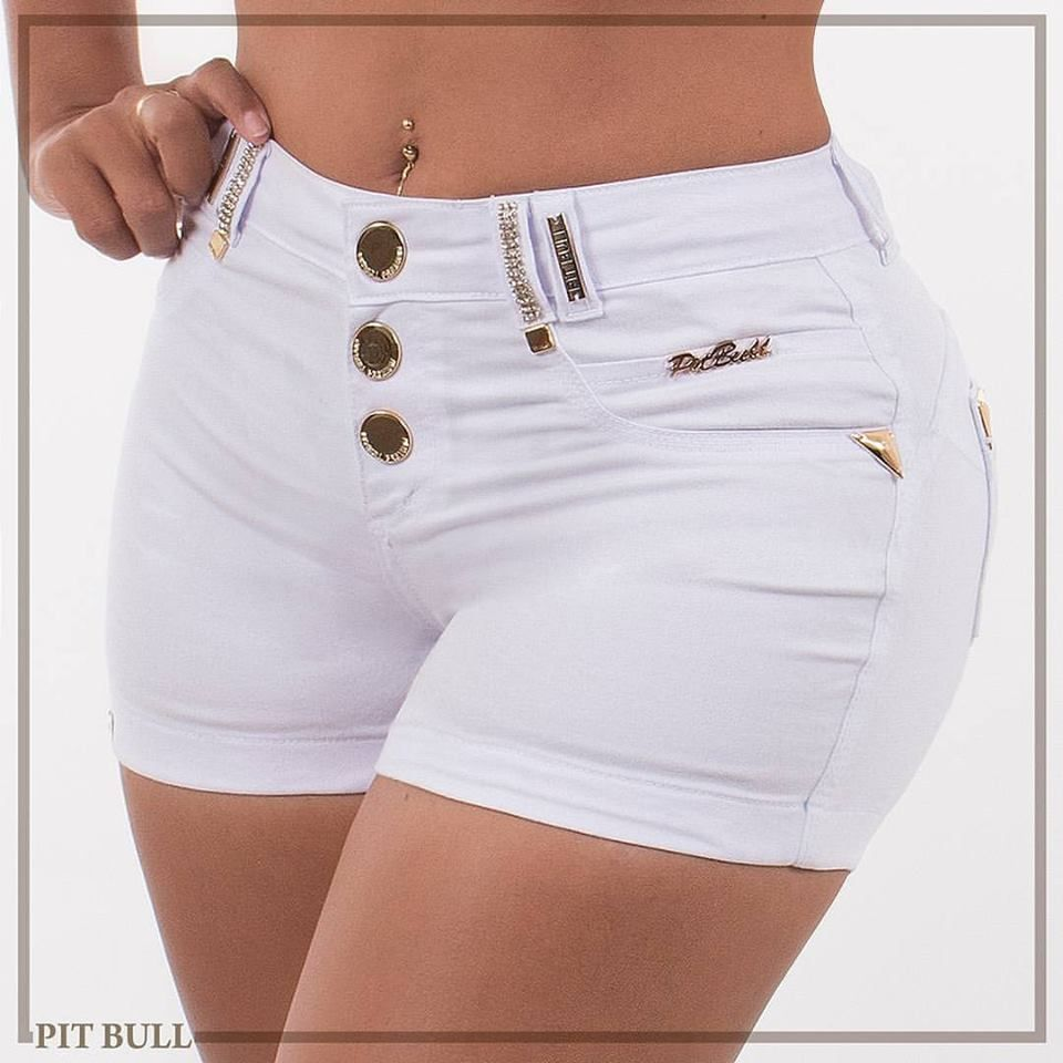 bc7a656ea Shorts Pit Bull Jeans Cintura Alta C/Bojo - Tam 42 - Ref. 23838 | Shorts  for my love...... my angel em 2019 | Sexy shorts, Jeans with heels e Shorts