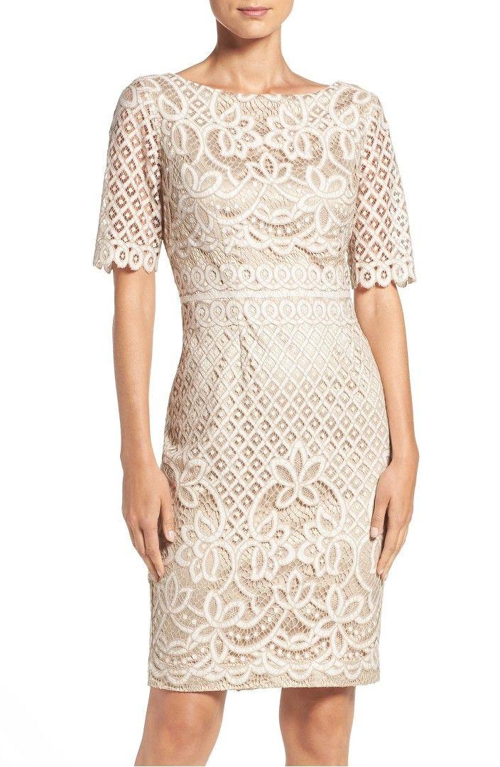 Eliza J Lace Sheath Dress Regular Petite Lace Sheath Dress