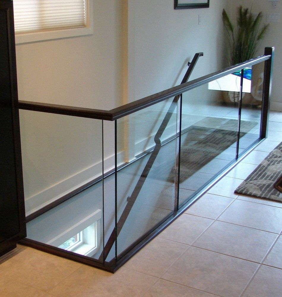 Dark Stained Oak Rail Contemporary Simplistic Clean Lines | Stairs And Railings Near Me | Stair Treads | Deck | Stair Parts | Iron Balusters | Stair Case