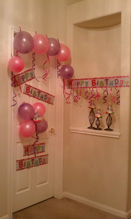 Pin By Stephanie Rodriguez On Birthday Shower Dinner Party Gift Ideas Birthday Door Decorations Diy Birthday Decorations Birthday Morning