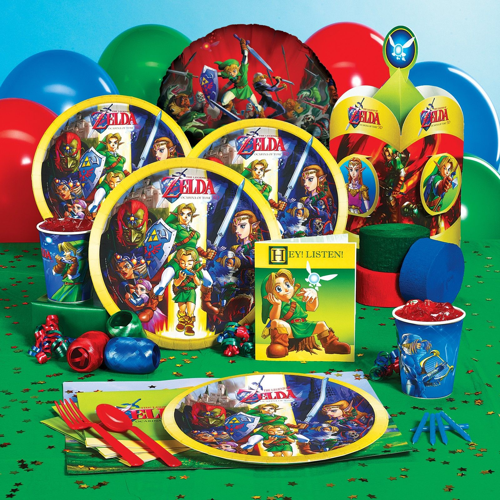 The Legend Of Zelda Party Suppliesthat Works For A 33rd Birthday Right