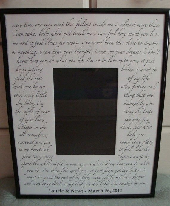 Custom WEDDING SONG Photo Mat with frame Your choice by kjframes ...