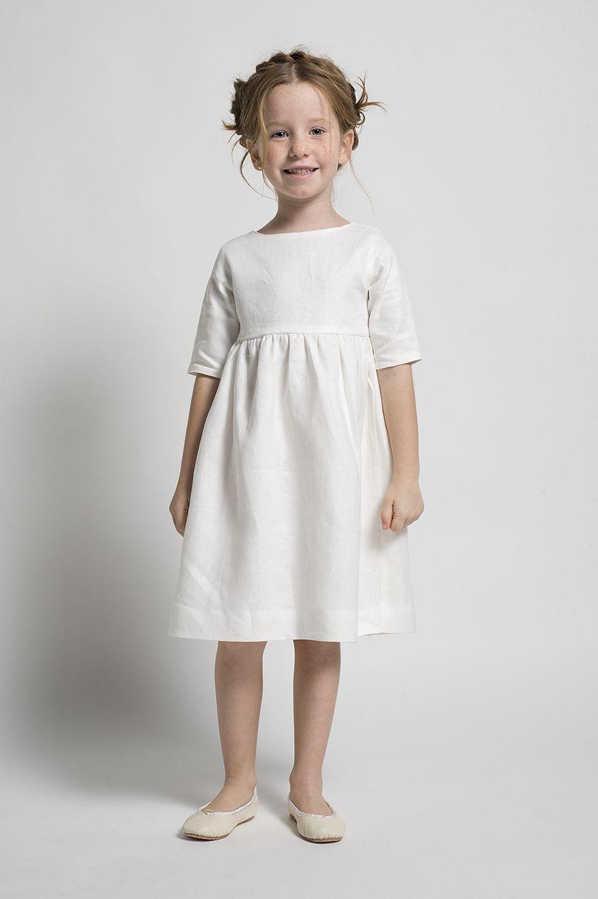Vestido Para Niña Blanco Perfecto Para Las Ocasiones Más