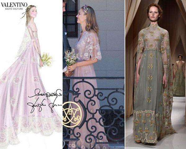 Valentino desvela el vestido con el que se casó Beatrice   Valentino ...