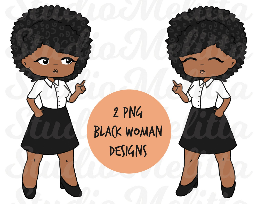 Black Woman Png Afro Woman Clipart Sublimation Designs Etsy Afro Women How To Draw Hands Black Women
