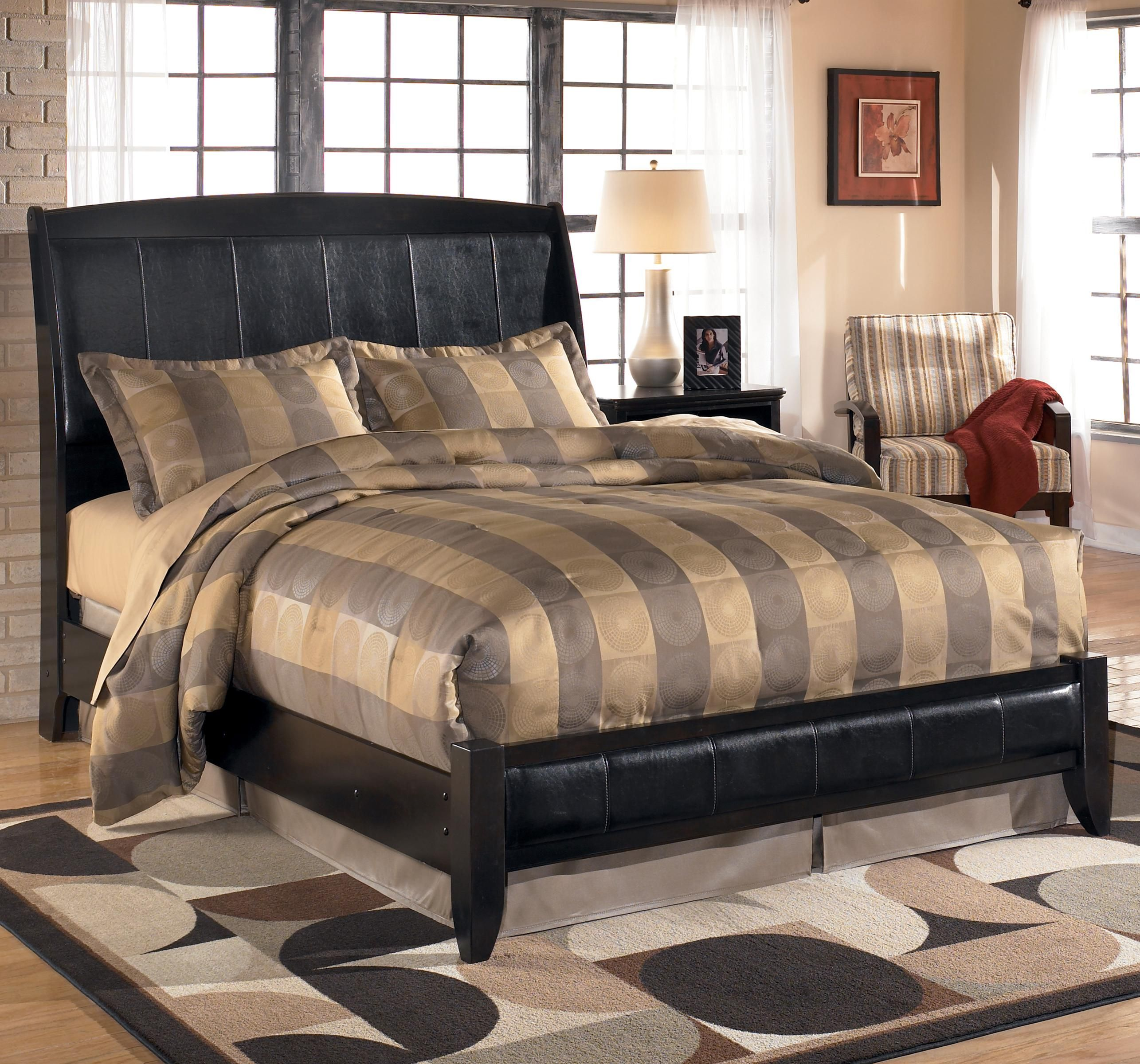 Harmony Queen Upholstered Platform Style Bed By Signature Design By Ashley Ashley Furniture Bedroom Platform Bedroom Sets Ashley Furniture