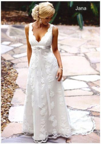 Sample Sale Gown: BellaDonna - Jana Corded lace empire line gown ...