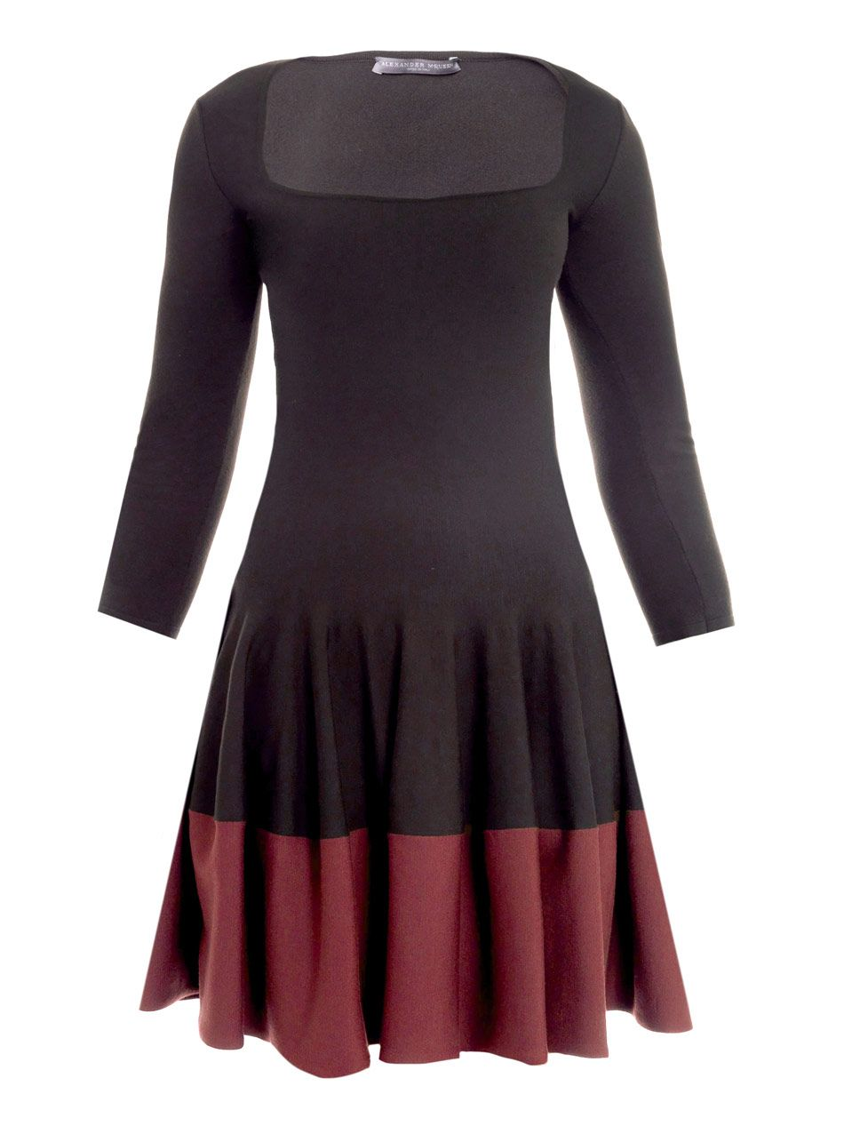 Bicolour wool dress by alexander mcqueen random things