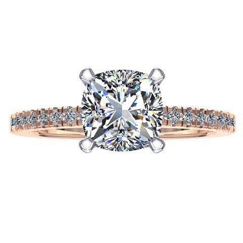 18ct Rose & White Gold Diamond Ring to brighten your morning
