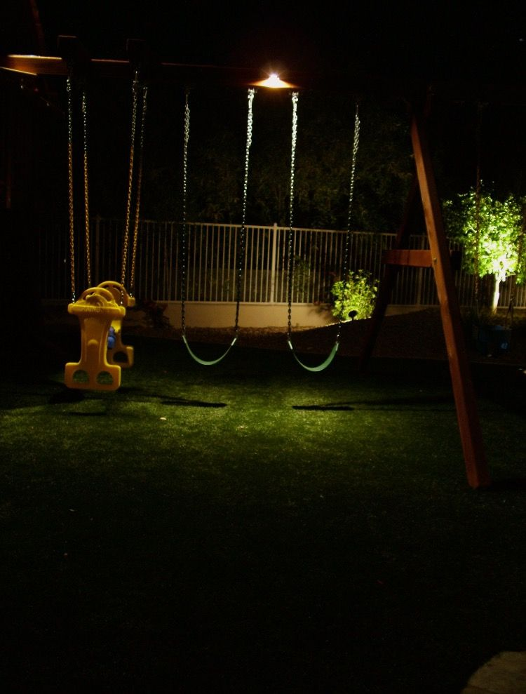 Swing Set Down Lighting A Great Idea For After School Fun