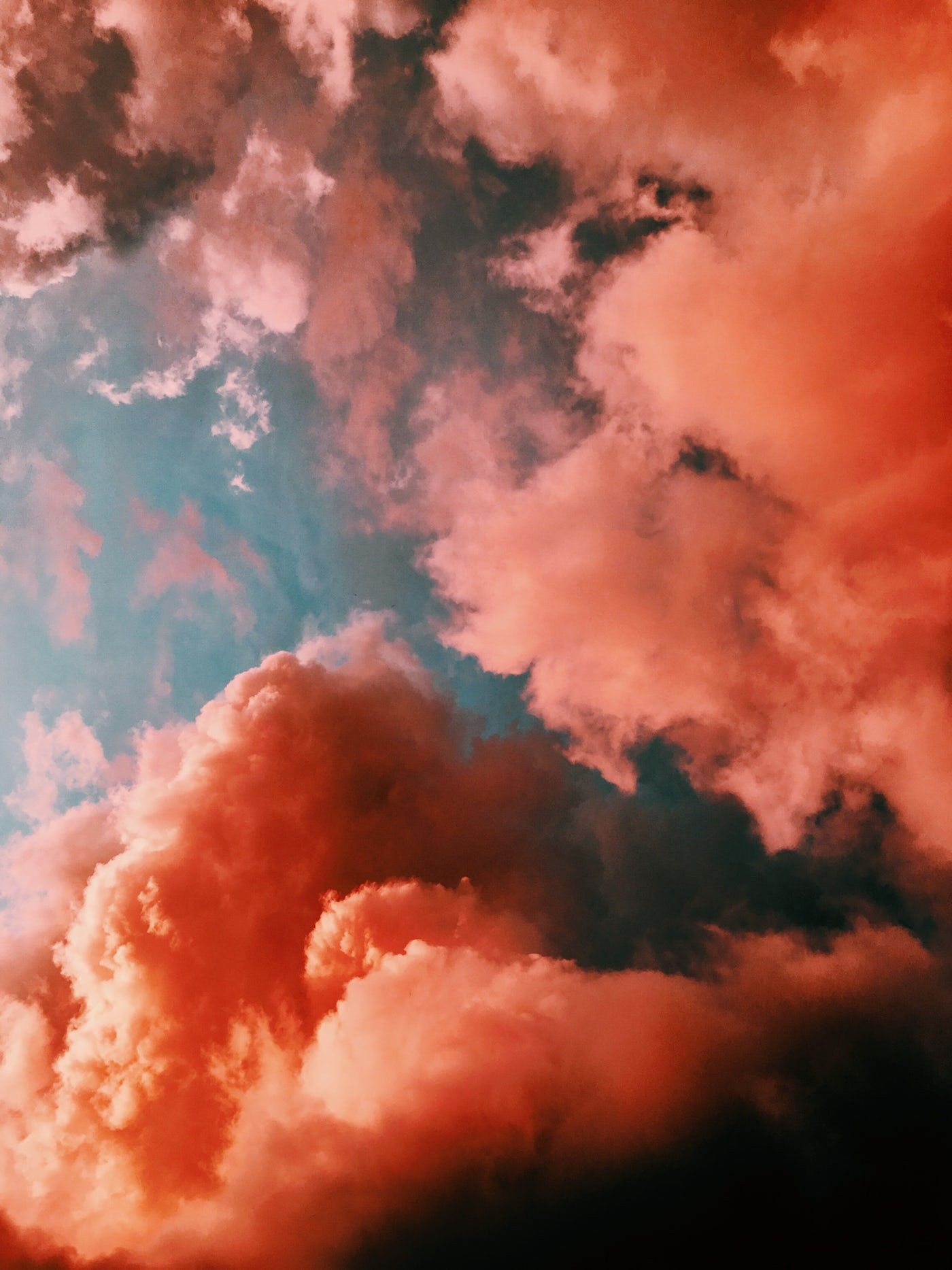 Colors Smoke Clouds wallpaper iphone, Sky aesthetic