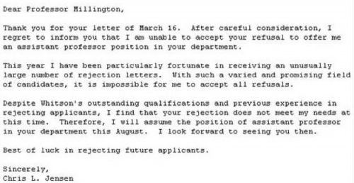 Outright refusal Funny Pinterest - email after job rejection