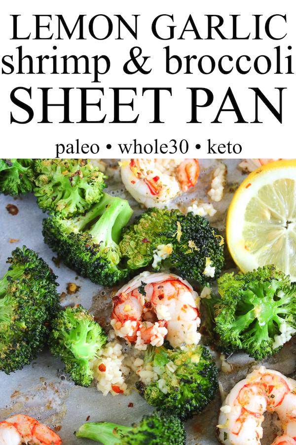 Just Jessie B: Lemon Garlic Shrimp & Broccoli Sheet Pan | Paleo, Whole30, Keto #garlicshrimprecipes