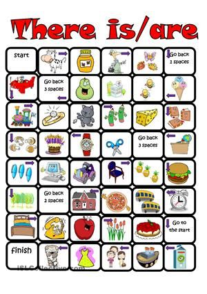 This is a board game to practice grammar constructions
