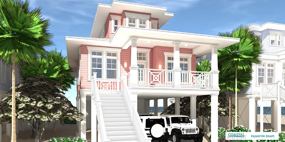 Espadrille Beach Coastal Home Plans Beach House Plan Beach House Plans Coastal House Plans