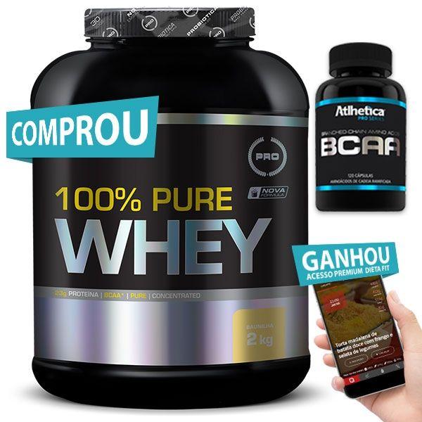 70b585a574 Combo 100% Pure Whey Probiótica + bcaa + Ganhe Brinde (20% off) - Viva  Salute