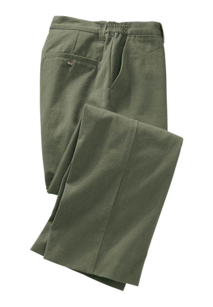 New Men's King Size Plain Chino Pants Light Green Size 40 x 40 #KingSize #KhakisChinos