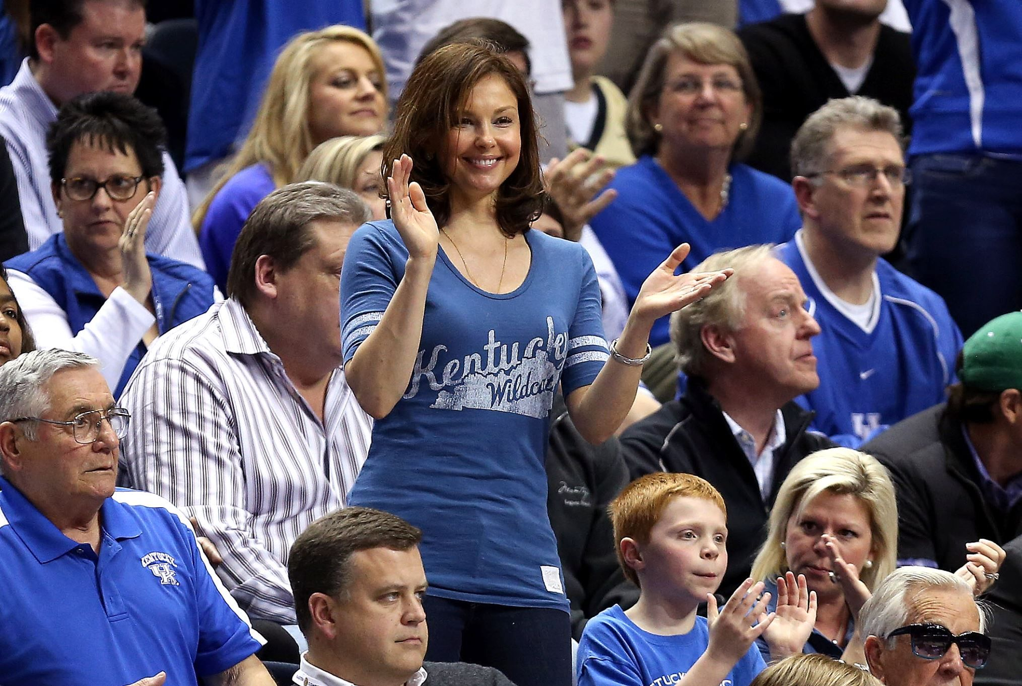 Teams' famous sports fans Ashley Judd Kentucky