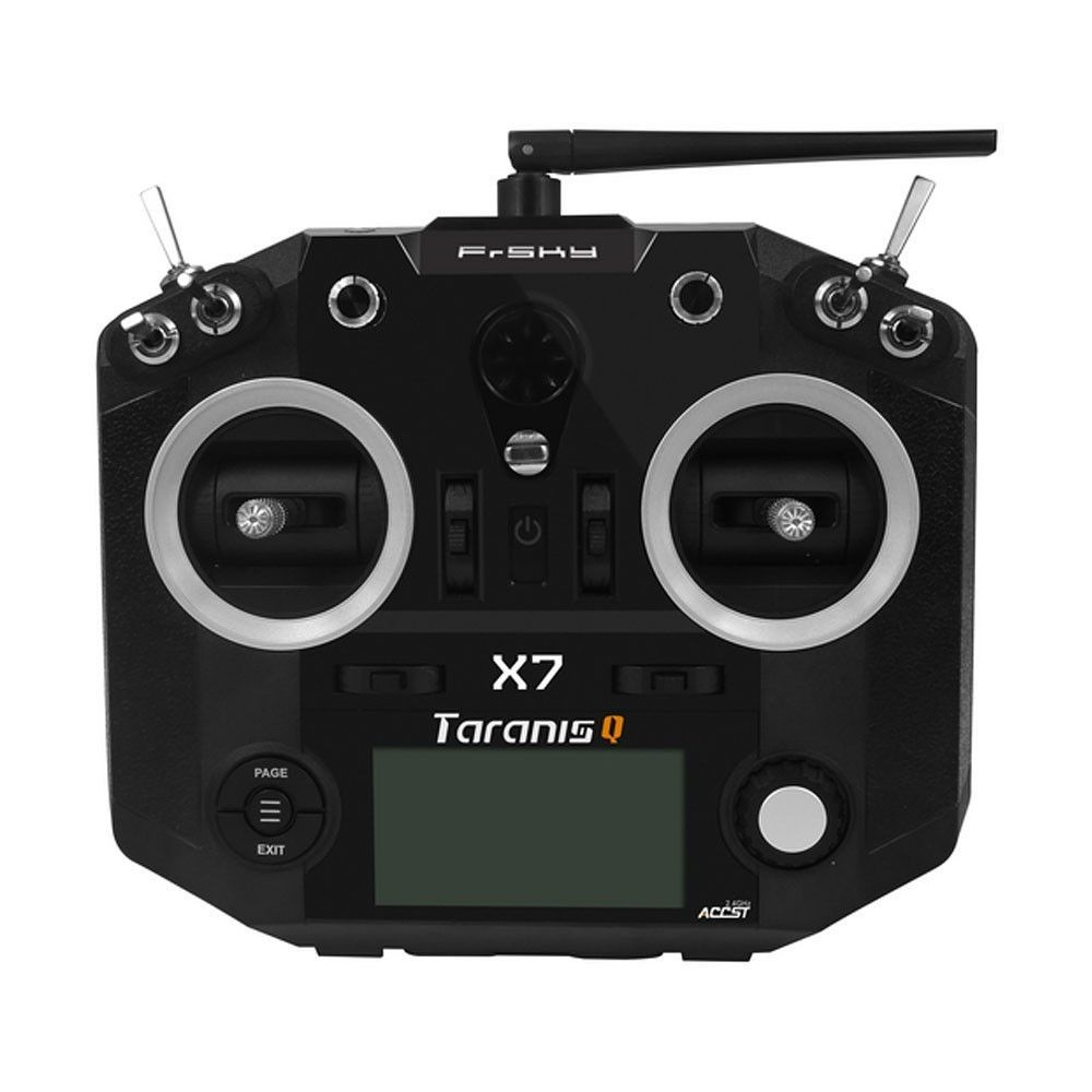This is the new Taranis Q radio by FrSky. It is a lower cost and simplified  version of the widely popular FrSky Taranis radio, and operates on OpenTX  just ...