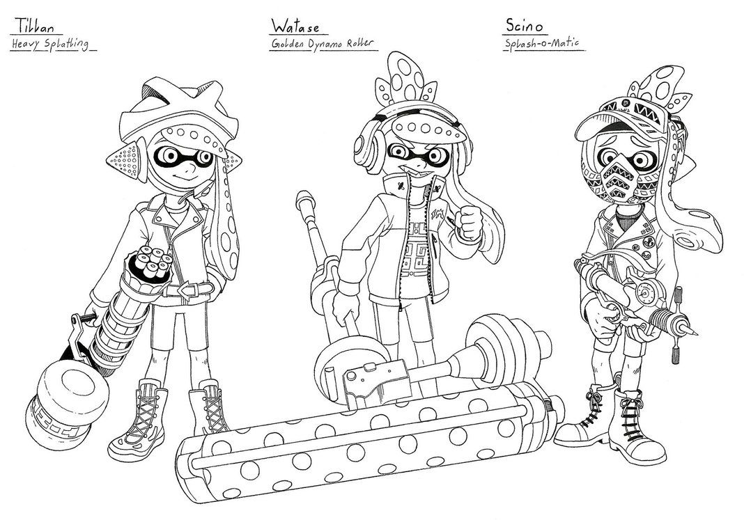 Splatoon Coloring Sheet Printable Coloring Pages Coloring