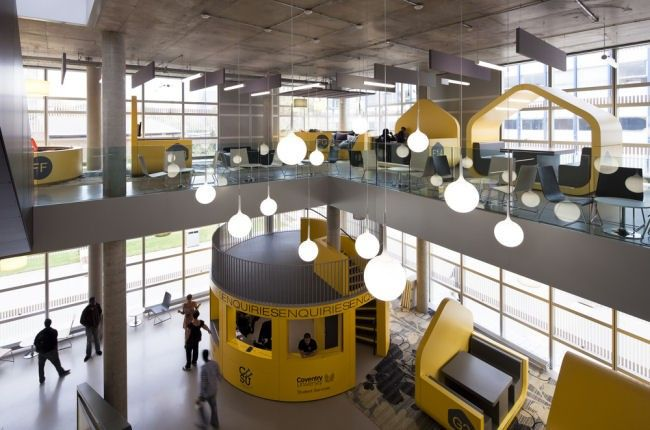 wan interiors education coventry university student hub shop i rh pinterest com