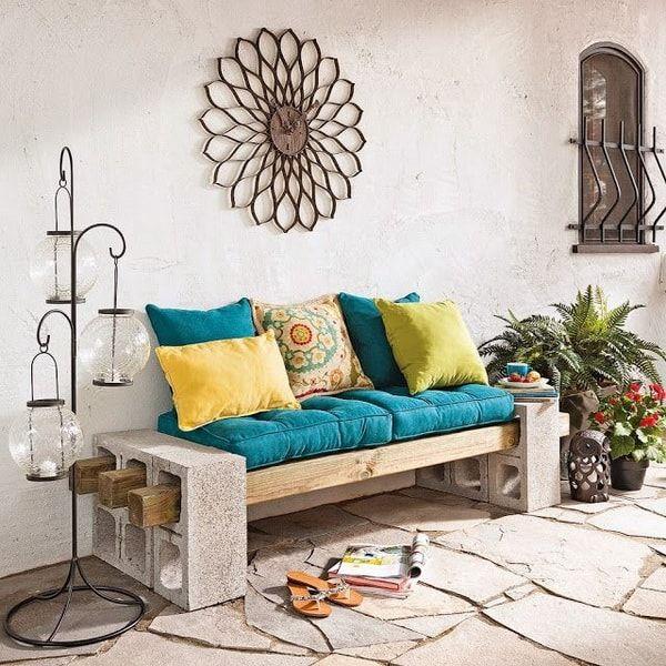 Bloques de cemento para decorar exteriores muebles con - Pergolas de cemento ...