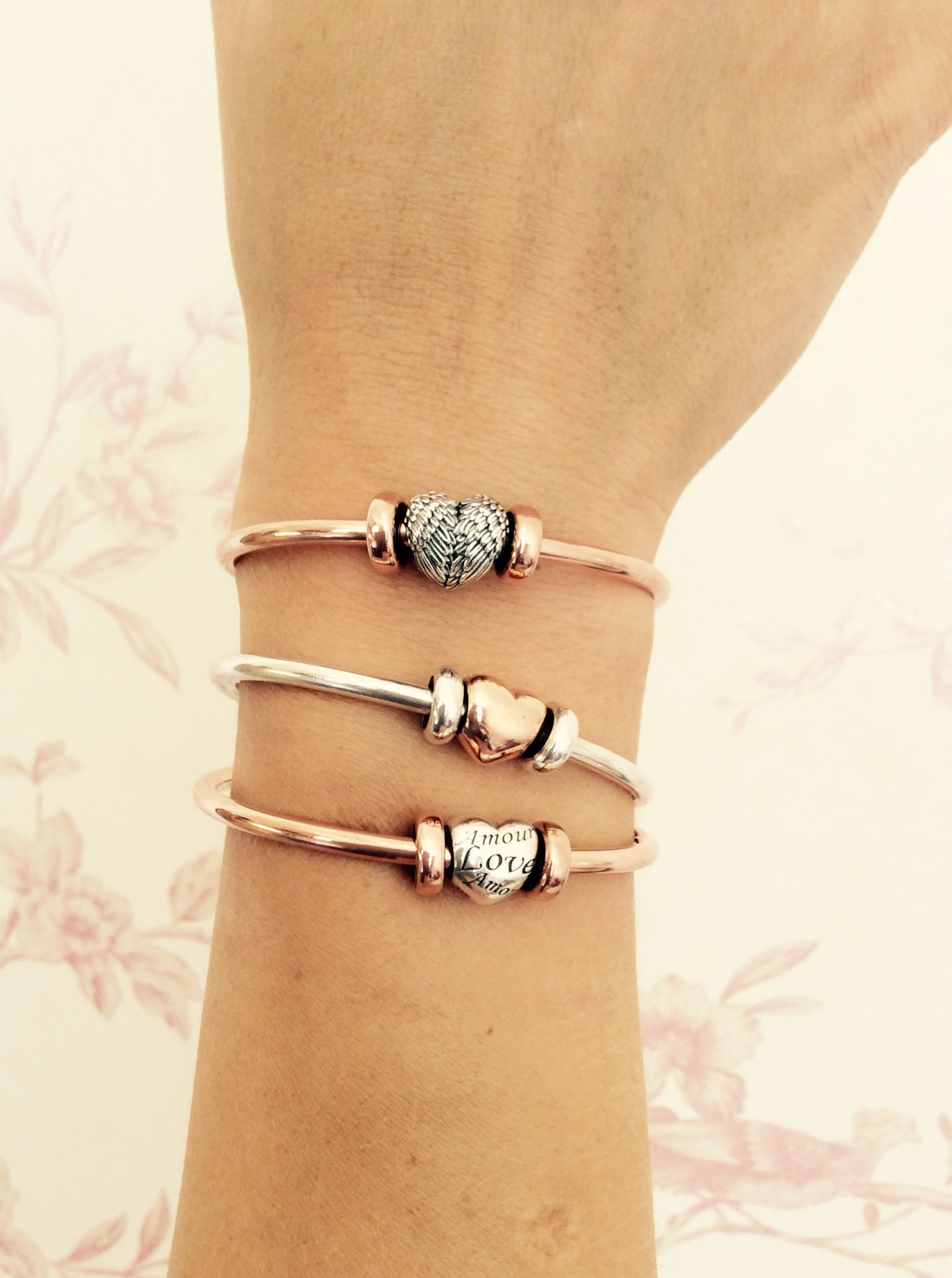 silver gold pin toned product bangle and pandora a bracelet two bangles test twelve dipped charms rose