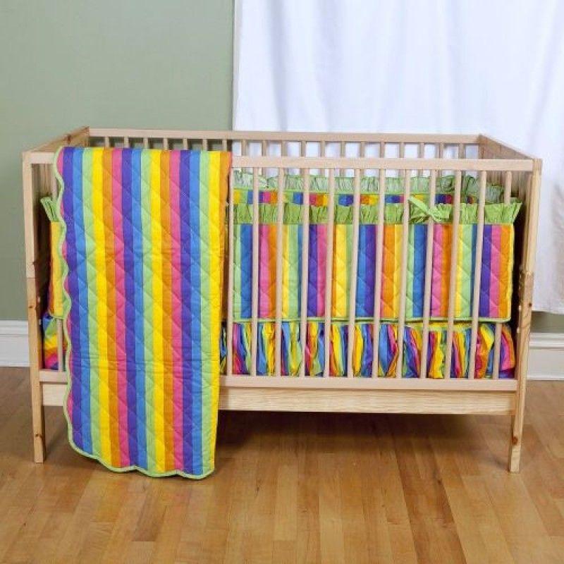 Rainbow Crib Bedding Photo 6