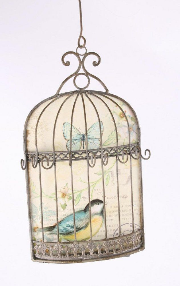 Vitage Birdcage Vintage Style Bird Cage Key Holder